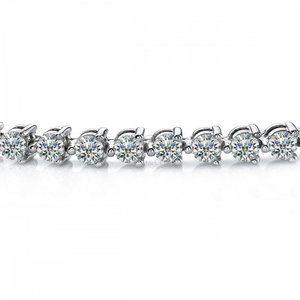 2 carats diamond round lady men bracelet diamonds